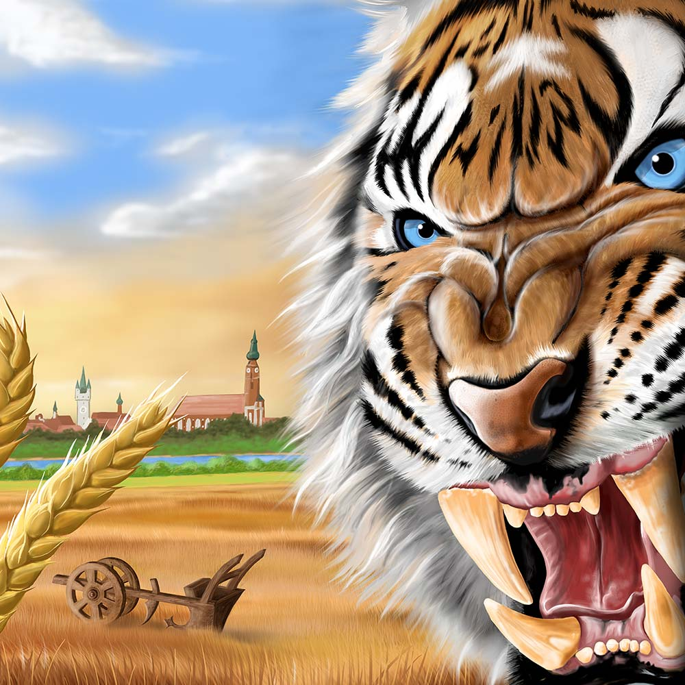 Straubing Tigers Illustration: Angry Tiger