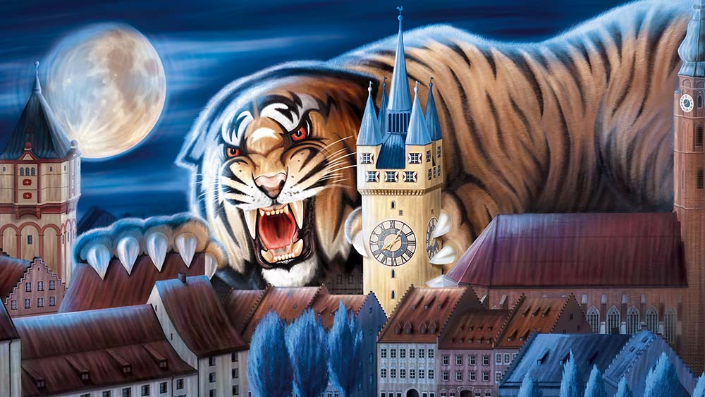 Straubing Tigers Illustration: Tigerstown
